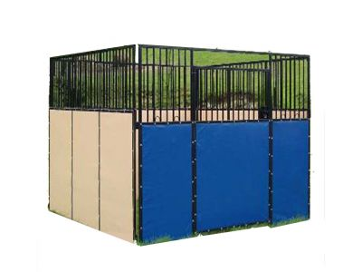 For wholesale Temp galvanized horse Stall stable with pvc cover